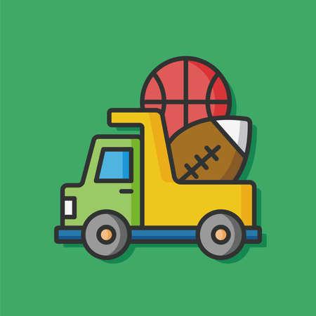 black baby boy: baby toy truck icon Illustration