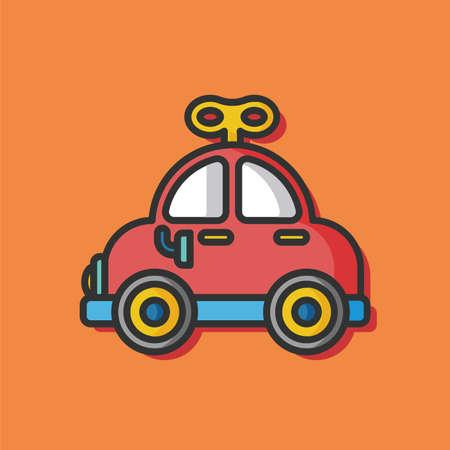 black baby boy: baby toy car icon