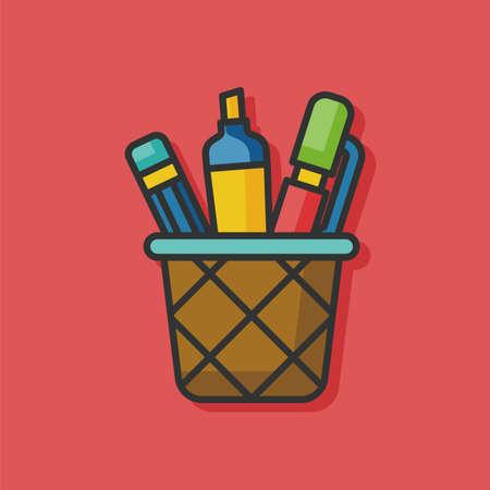 case: pencil case box icon