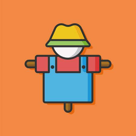 scarecrow: farm Scarecrow vector icon Illustration