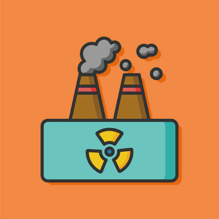 protection icon: Environmental protection concept factory icon