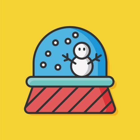 black baby boy: crystal ball snowman icon
