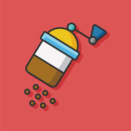 sauce bottle: sauce bottle vector icon Illustration