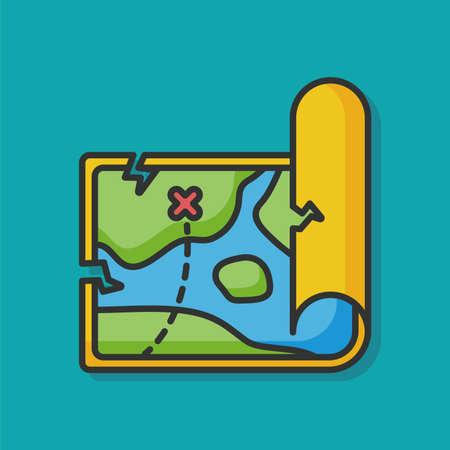 treasure map vector icon Stock Illustratie