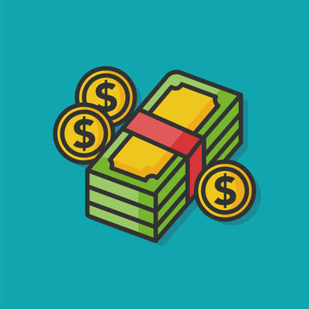 chequebook: money financial vector icon