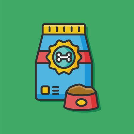 pet food: pet food vector icon