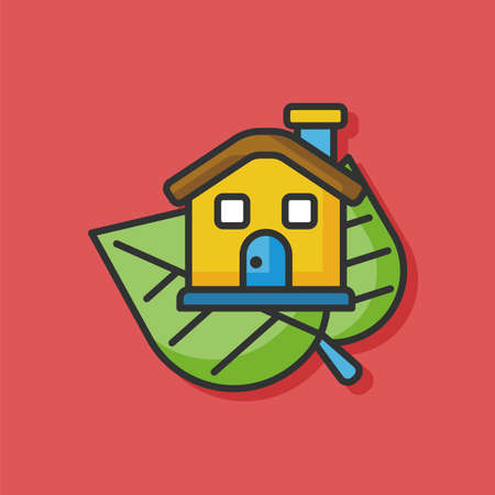 protection icon: Environmental protection concept greenhouses icon Illustration