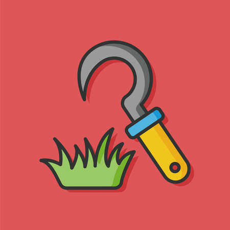 hand trowels: gardening shovel knife tool icon