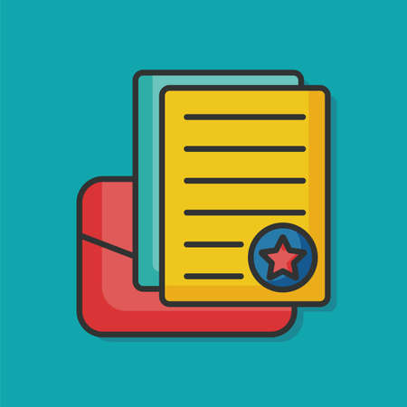 writing paper: writing paper vector icon Illustration