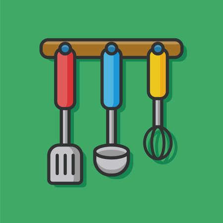 spatula: kitchenware spoon and Spatula icon Illustration