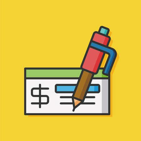 cash money: money cash check icon