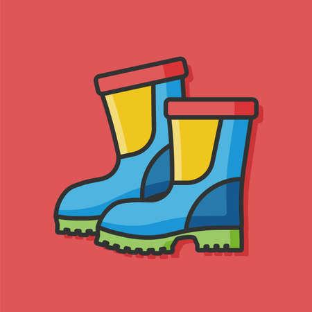 botas de lluvia: botas de lluvia del icono del vector Vectores