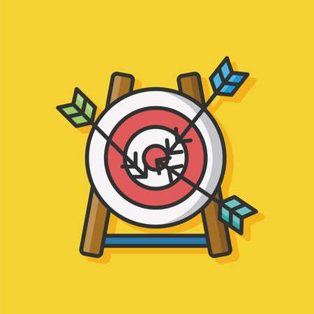 archery target: Archery target vector icon Illustration