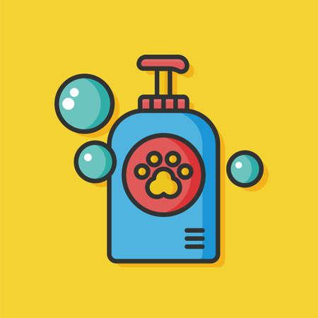bathtime: pet shampoo vector icon Illustration