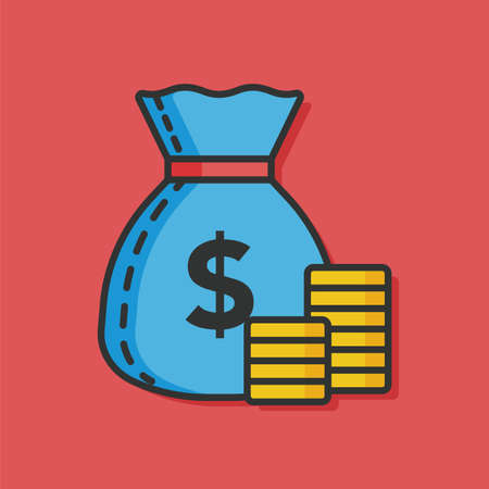 personal banking: money financial vector icon