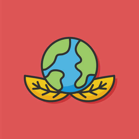 protect: Protect our environment, protect our planet vector icon