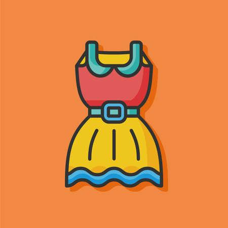 wearing: wearing dress vector icon