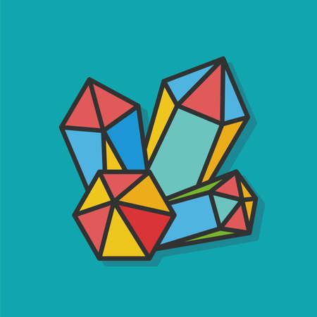 carats: crystal diamond vector icon Illustration