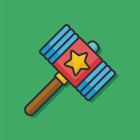 black baby boy: toy hammer vector icon