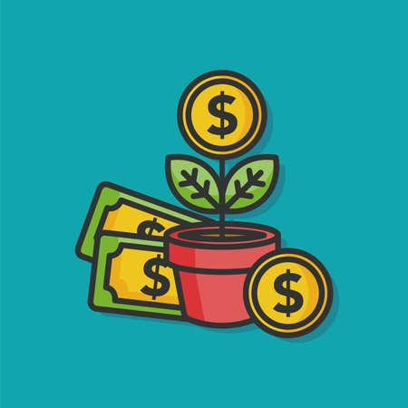 checkbook: money tree vector icon