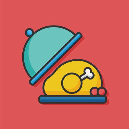 food: food tray vector icon Illustration