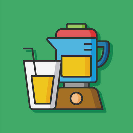 juicer: kitchenware juicer vector icon