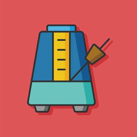 metronome: music Metronome vector icon