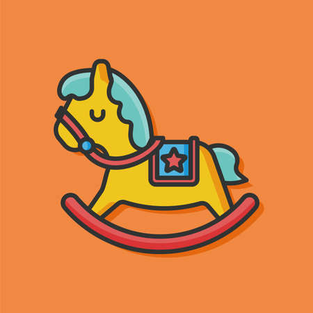 black baby boy: baby toy horse icon