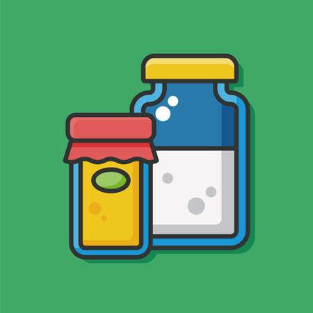 sauce: sauce bottle vector icon Illustration