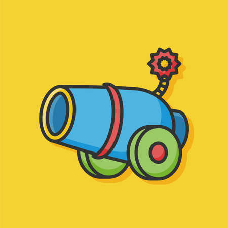 cannon: Cannon weapon vector icon
