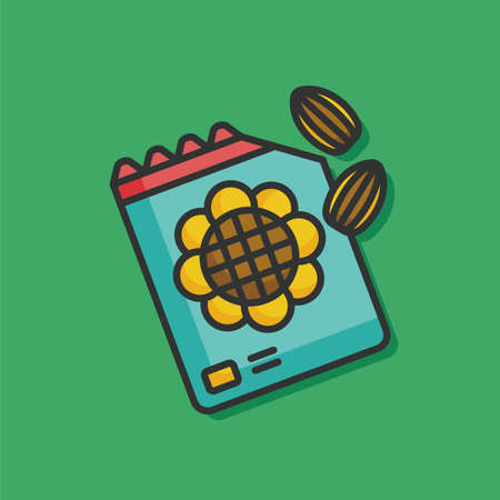 rice and beans: garden seed vector icon