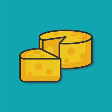 food: food cheese vector icon Illustration