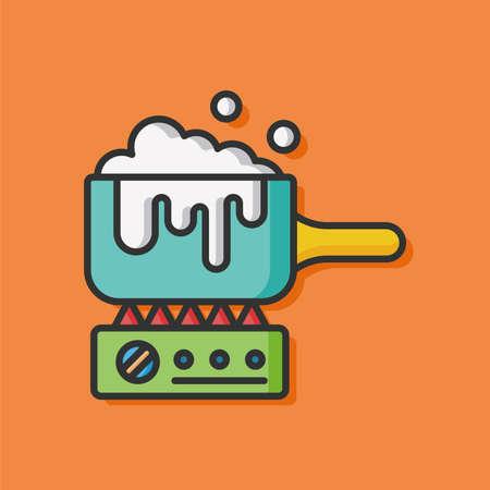 soup pot: cooking soup pot icon Illustration
