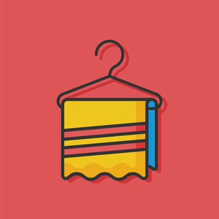towel: towel hanger icon