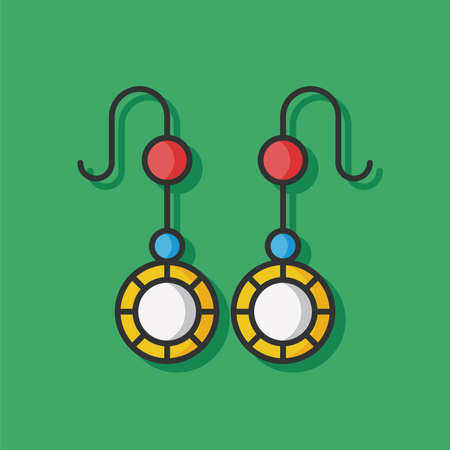 accessory: earring accessory vector icon