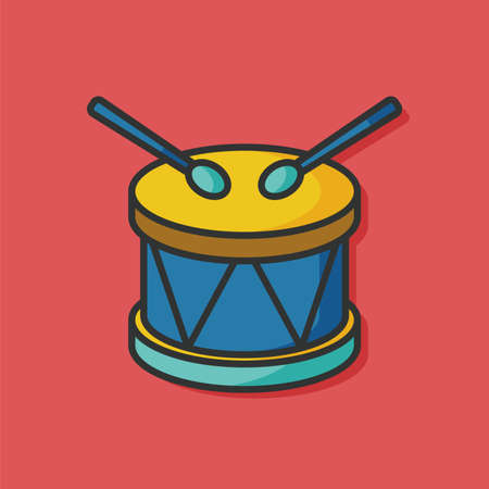 drums: Bass drums vector icon Illustration
