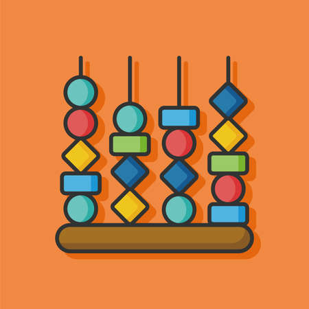 abacus: Abacus toy vector icon