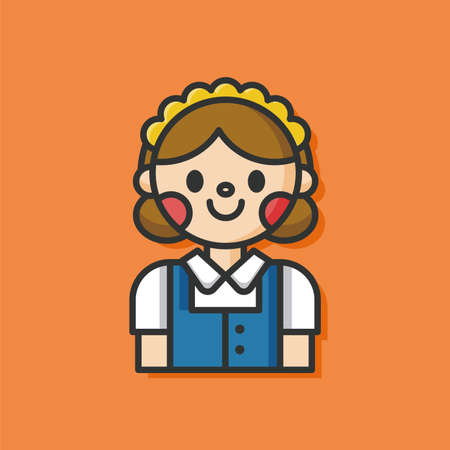 doorkeeper: hotel bellman vector icon
