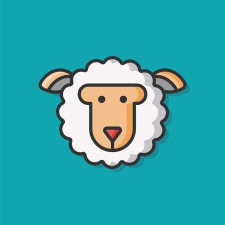 carnero: animales icono de las ovejas del vector Vectores