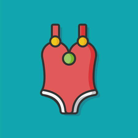 swim wear: swim suit vector icon
