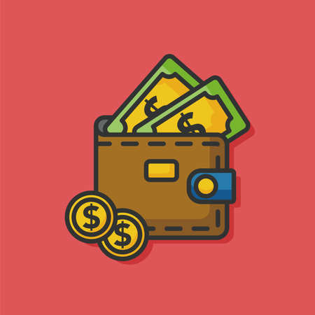 money wallet: money wallet purse vector  icon
