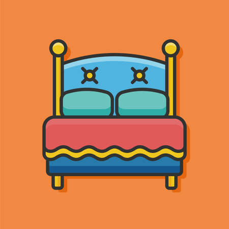 hotel bed: hotel bed vector icon