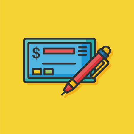 check icon: money cash check icon