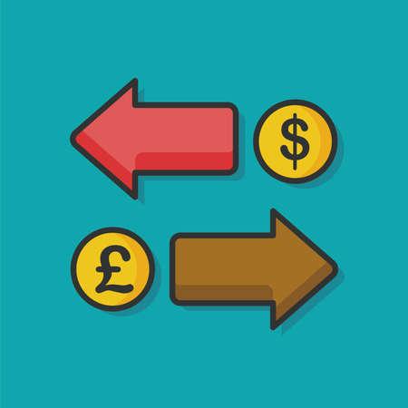 money exchange: money exchange vector icon