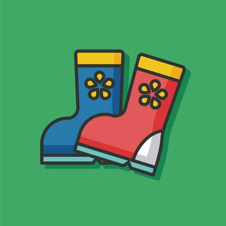 wellies: Rain boots vector icon