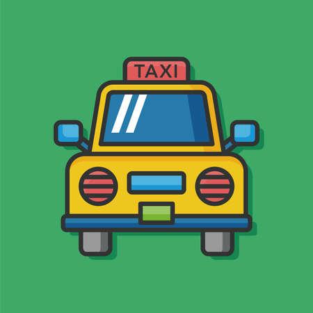 private service: taxi car vector icon