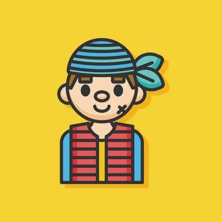 pirate captain: pirate captain vector icon