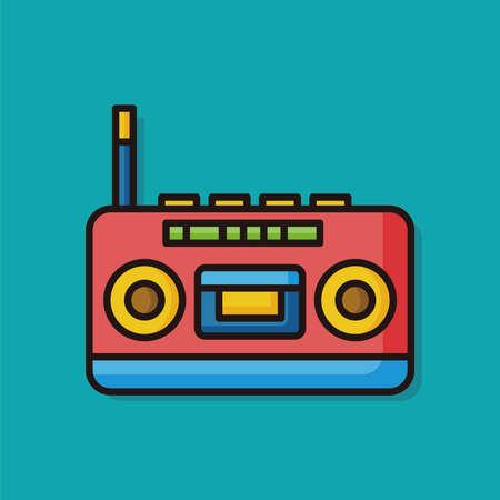 equipo de sonido: est�reo icono de instrumento musical Vectores
