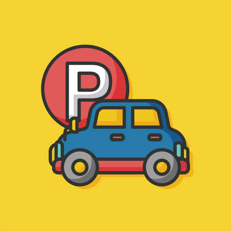 parking car: parking car sign icon