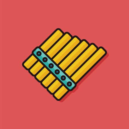 flute instrument: musical instrument flute icon Illustration